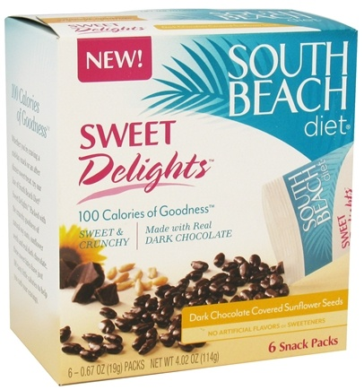 DROPPED: South Beach Diet - Sweet Delights Dark Chocolate Covered Sunflower Seeds - 6 Pack(s)