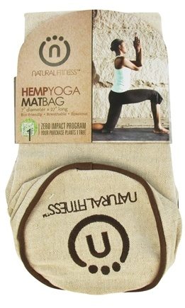 DROPPED: Natural Fitness - Hemp Yoga Mat Bag - CLEARANCED PRICED