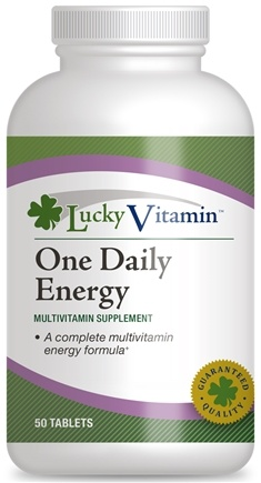 DROPPED: LuckyVitamin - One Daily Energy Multivitamin - 50 Tablets CLEARANCE PRICED