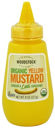 DROPPED: Woodstock Farms - Organic Yellow Mustard - 8 oz. CLEARANCE PRICED