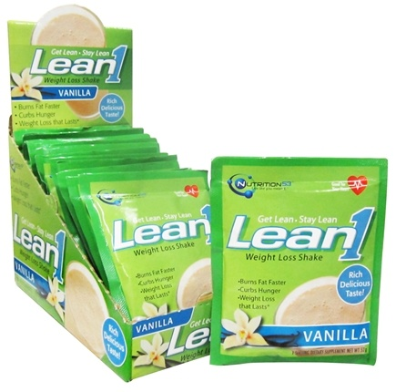 DROPPED: Nutrition 53 - Lean1 Performance Shake Vanilla - 15 x 1.8 oz. Packets - CLEARANCED PRICED