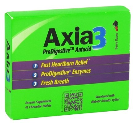 DROPPED: Axia3 - ProDigestive Antacid Fast Heartburn Relief Berry Flavor - 45 Chewable Tablets