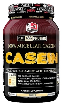 DROPPED: 4 Dimension Nutrition - 100% Micellar Casein Vanilla - 2 lbs. CLEARANCED PRICED
