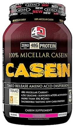 DROPPED: 4 Dimension Nutrition - 100% Micellar Casein Strawberry - 2 lbs. CLEARANCED PRICED