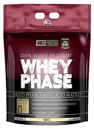 DROPPED: 4 Dimension Nutrition - 100% Whey Protein Whey Phase Vanilla - 10 lbs.