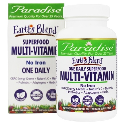Paradise Herbs - Orac-Energy Multi-One Superfood Multivitamin No Iron - 60 Vegetarian Capsules