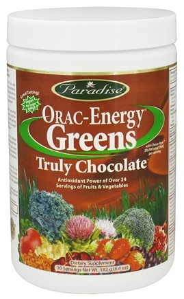 DROPPED: Paradise Herbs - Orac-Energy Greens Truly Chocolate - 6.4 oz. CLEARANCED PRICED
