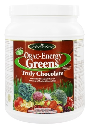 Paradise Herbs - Orac-Energy Greens Truly Chocolate - 12.8 oz.
