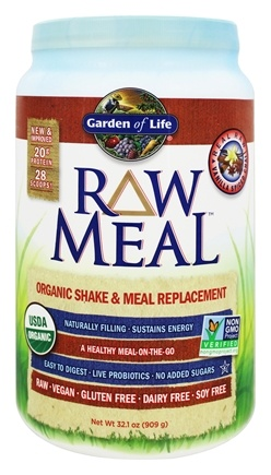 Garden of Life - RAW Meal Organic Shake & Meal Replacement Vanilla Spiced Chai - 32.1 oz.