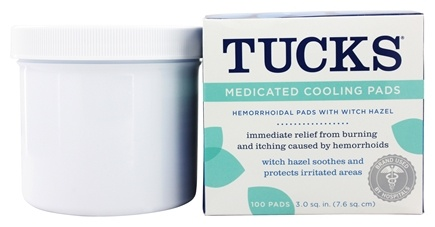 Tucks - Medicated Cooling Pads with Witch Hazel - 100 Count