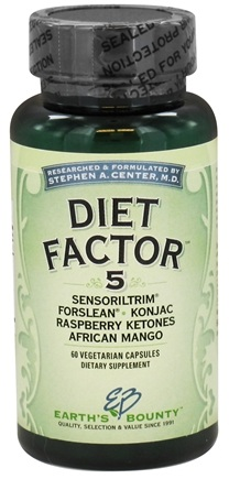 DROPPED: Earth's Bounty - Diet Factor 5 - 60 Vegetarian Capsules CLEARANCE PRICED