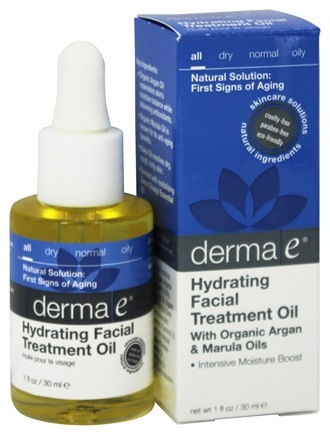 DROPPED: Derma-E - Hydrating Facial Treatment Oil With Organic Argan & Marula Oils - 1 oz.