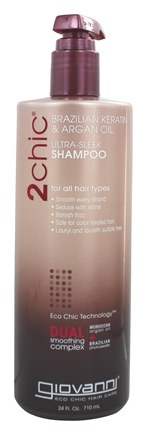 Giovanni - 2Chic Brazilian Keratin & Argan Oil Ultra-Sleek Shampoo - 24 oz.