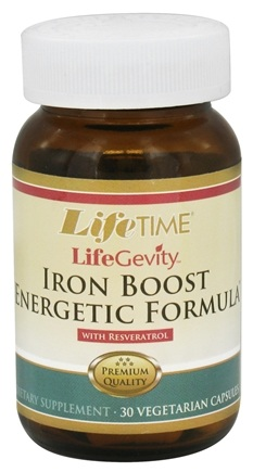 DROPPED: LifeTime Vitamins - LifeGevity Iron Boost Energetic Formula - 30 Vegetarian Capsules CLEARANCED PRICED