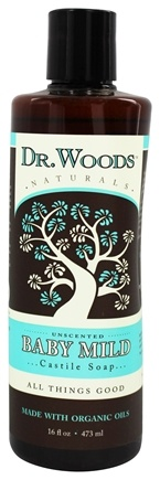 DROPPED: Dr. Woods - Organic Castile Soap Baby Mild Unscented - 16 oz.