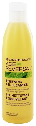 DROPPED: Desert Essence - Age Reversal Renewing Gel Cleanser - 6.4 oz.