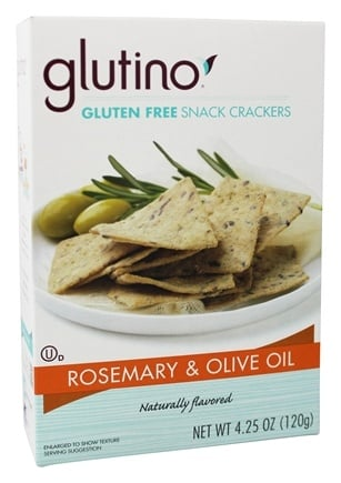 DROPPED: Glutino - Gluten Free Snack Crackers Rosemary & Olive Oil - 4.25 oz.