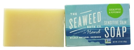 DROPPED: The Seaweed Bath Co. - Wildly Natural Seaweed Sensitive Skin Soap Eucalyptus & Peppermint - 3.75 oz.