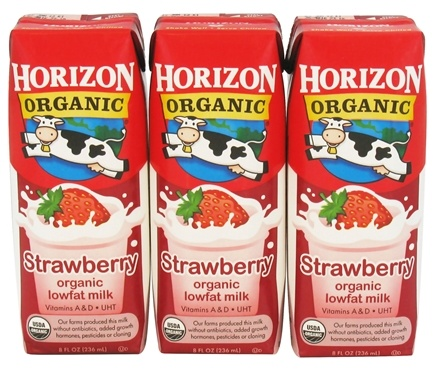 DROPPED: Horizon Organic - Organic Low Fat Milk Box Strawberry - 3 Pack