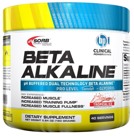 DROPPED: BPI Sports - Clinical PowerSeries Beta Alkaline Tropical Ice 40 Servings - 5.64 oz.