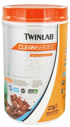 DROPPED: Twinlab - Clean Series Sport Protein Whey/Casein Blend Creamy Cocoa - 1.75 lbs.