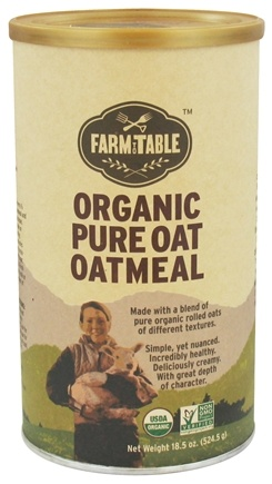 DROPPED: Farm to Table - Organic Pure Oat Oatmeal - 18.5 oz.