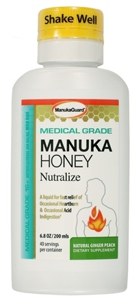 DROPPED: Manuka Guard - Nutralize With Certified Medical Grade Active Manuka Honey Natural Ginger Peach - 7 oz.