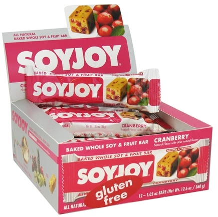 DROPPED: SoyJoy - All Natural Baked Whole Soy & Fruit Bar Cranberry - 1.05 oz. CLEARANCE PRICED