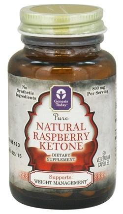 DROPPED: Genesis Today - Pure Natural Raspberry Ketone - 60 Vegetarian Capsules CLEARANCE PRICED