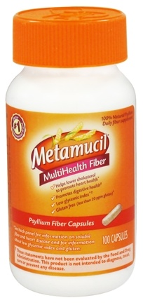DROPPED: Metamucil - MultiHealth Psyllium Fiber - 100 Capsules CLEARANCE PRICED