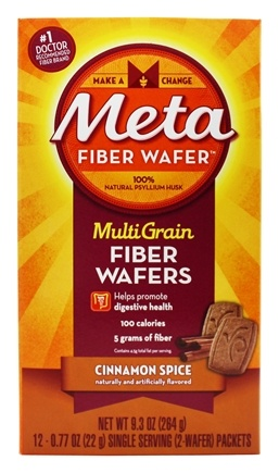 DROPPED: Metamucil - MultiGrain Fiber Wafers Cinnamon Spice - 12 x .77 oz. Single Serving Packets