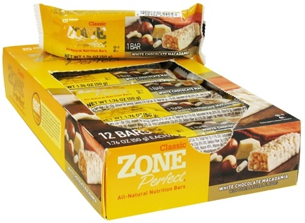 DROPPED: Zone Perfect - All-Natural Nutrition Bar White Chocolate Macadamia - 1.76 oz.