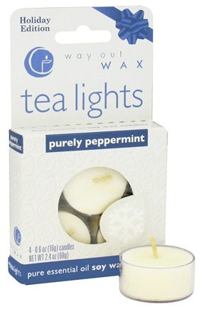 DROPPED: Way Out Wax - Tealights Purely Peppermint - 4 Pack CLEARANCED PRICED