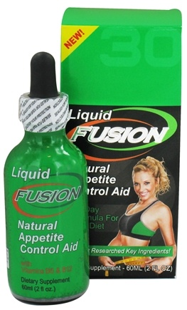 DROPPED: Fusion Diet Systems - Liquid Fusion Natural Appetite Control Aid 30 Day Formula For Any Diet - 2 oz. CLEARANCED PRICED