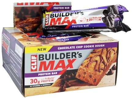 DROPPED: Clif Bar - Builder's Max Protein Bar Chocolate Chip Cookie Dough - 3.4 oz.