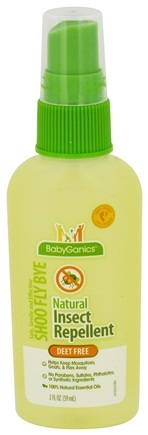 DROPPED: BabyGanics - Natural Insect Repellent Shoo Fly Bye Deet Free - 2 oz. CLEARANCED PRICED