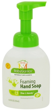DROPPED: BabyGanics - Foaming Hand Soap Fine & Handy Green Apple - 8.45 oz. CLEARANCED PRICED