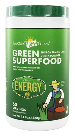 DROPPED: Amazing Grass - Green Superfood High Energy 60 Servings Lemon Lime - 14.8 oz.