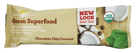 Amazing Grass - Green Superfood Whole Nutrition Bar Chocolate Chip Coconut - 2.1 oz.