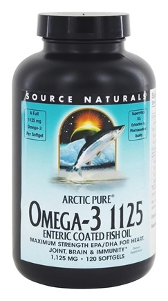 Source Naturals - ArcticPure Omega-3 Fish Oil 1125 mg. - 120 Enteric Coated Softgels