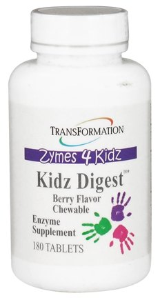 DROPPED: Transformation Enzymes - Zymes 4 Kidz Digest Chewable Berry Flavor - 180 Chewable Tablets