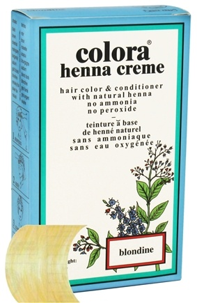 DROPPED: Colora - Henna Creme Hair Color & Conditioner Blondine - 2 oz. CLEARANCED PRICED
