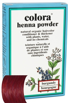 DROPPED: Colora - Henna Powder Natural Organic Hair Color Burgundy - 2 oz.