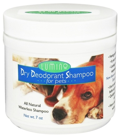 DROPPED: Lumino - Dry Deodorant Shampoo For Pets - 7 oz. CLEARANCED PRICED