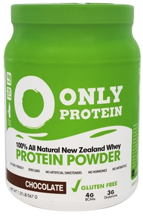 Only Protein - 100% All Natural New Zealand Grass Fed Whey Protein Powder Chocolate - 1.25 lbs.