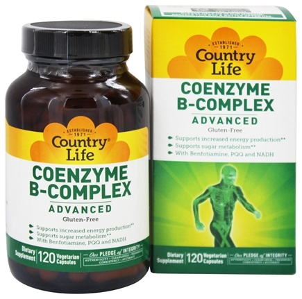 Country Life - Coenzyme B Complex Advanced - 120 Vegetarian Capsules
