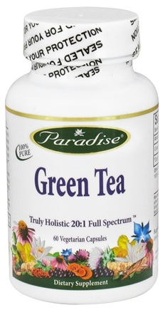 DROPPED: Paradise Herbs - Green Tea - 60 Vegetarian Capsules CLEARANCED PRICED