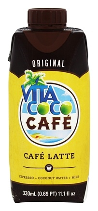 Vita Coco - Cafe Latte Coconut Water Original Flavor - 11.1 oz.