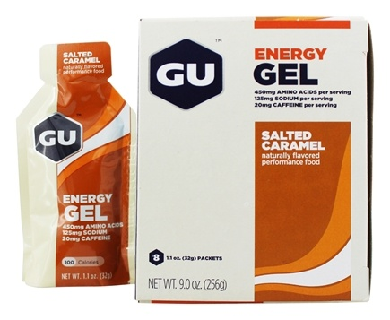 GU Energy - GU Energy Gel 20mg Caffeine Salted Caramel - 8 x 1.1 oz. Packets