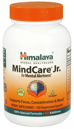 DROPPED: Himalaya Herbal Healthcare - MindCare Jr. for Mental Alertness - 120 Vegetarian Capsules CLEARANCE PRICED